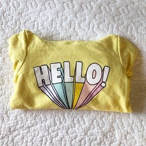 Hello pullover sweatshirt